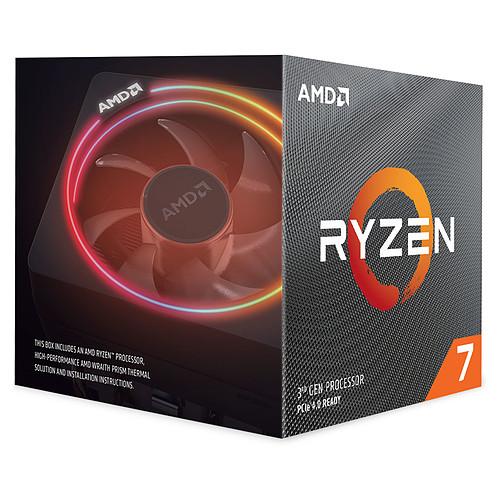 AMD Ryzen 7 3800X Wraith Prism LED RGB (3.9 GHz / 4.5 GHz) avec mise à jour BIOS pas cher