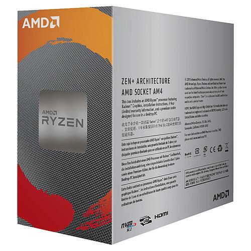 AMD Ryzen 3 3200G Wraith Stealth Edition (3.6 GHz / 4 GHz) pas cher