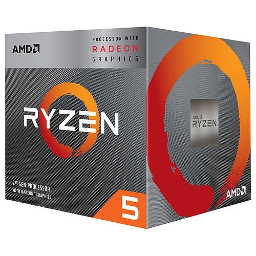 AMD Ryzen 5 3400G Wraith Spire Edition (3.7 GHz / 4.2 GHz) avec mise à jour BIOS pas cher