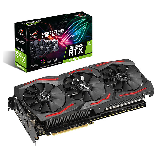 ASUS GeForce RTX 2060 SUPER ROG-STRIX-RTX2060S-A8G-GAMING pas cher