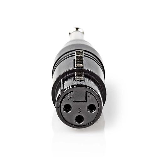 Nedis Adaptateur mono XLR/Jack 6.35 mm Femelle / Mâle pas cher
