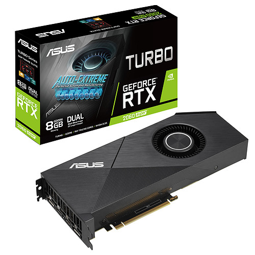 ASUS GeForce RTX 2060 SUPER TURBO-RTX2060S-8G-EVO pas cher