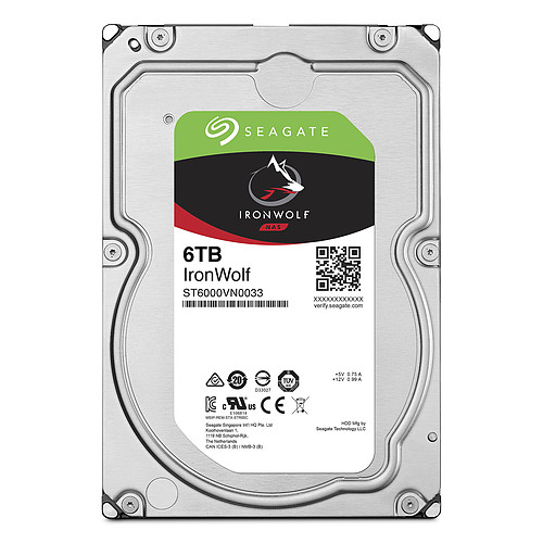 Seagate IronWolf 6 To (ST6000VN001) pas cher