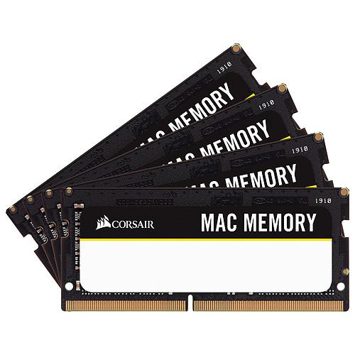 Corsair Mac Memory SO-DIMM 64 Go (4x 16 Go) DDR4 2666 MHz CL18 pas cher