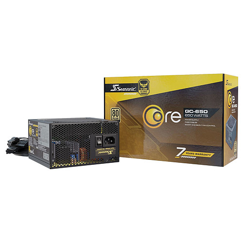Seasonic CORE GC-650 80PLUS Gold pas cher