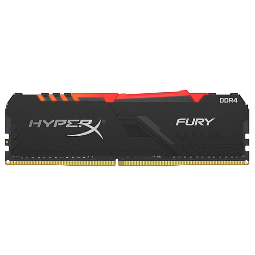 HyperX Fury RGB 32 Go (4x 8 Go) DDR4 3466 MHz CL16 pas cher