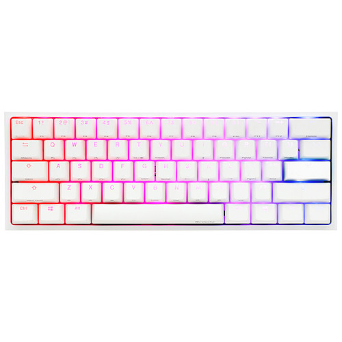 Ducky Channel One 2 Mini RGB Blanc (Cherry MX RGB Silent Red) pas cher