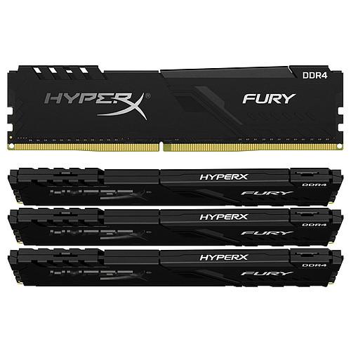 HyperX Fury 64 Go (4 x 16 Go) DDR4 2666 MHz CL16 pas cher