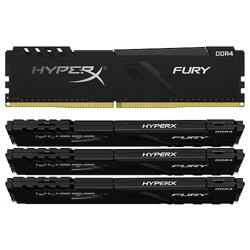 HyperX Fury 32 Go (4 x 8 Go) DDR4 3000 MHz CL15 pas cher