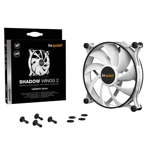 be quiet! Shadow Wings 2 White 140 mm pas cher