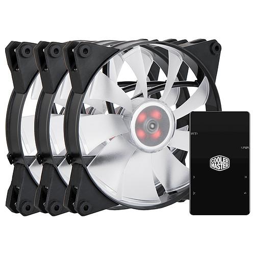 Cooler Master MasterFan Pro 140 Air Flow RGB + contrôleur RGB pas cher