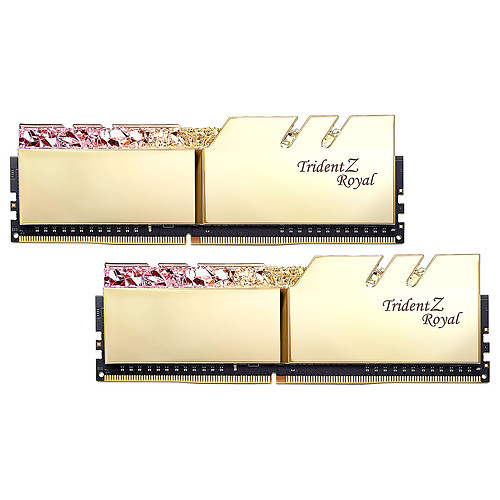 G.Skill Trident Z Royal 32 Go (2 x 16 Go) DDR4 3600 MHz CL16 - Or pas cher
