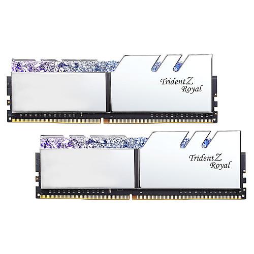 G.Skill Trident Z Royal 16 Go (2 x 8 Go) DDR4 3600 MHz CL14 - Argent pas cher