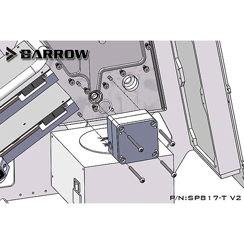 Barrow SPB17-T V2 RGB - noir pas cher