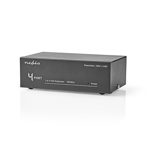 Nedis 4 Ports VGA Splitter (1 entrée vers 4 sorties) pas cher