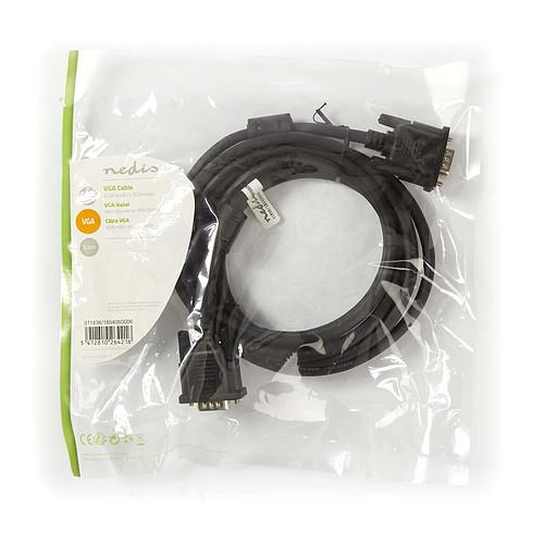 Nedis Câble VGA HD mâle / mâle (3 m) pas cher