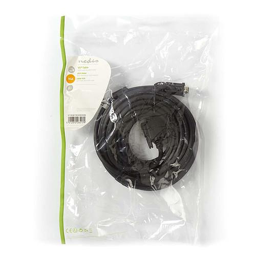 Nedis Câble VGA HD mâle / mâle (10 m) pas cher