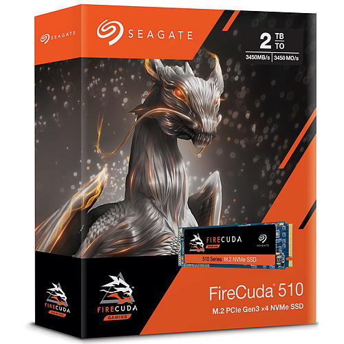 Seagate SSD FireCuda 510 M.2 PCIe NVMe 2 To pas cher