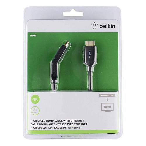 Belkin Câble HDMI 2.0 Premium Gold pivotant avec Ethernet - 2 m pas cher