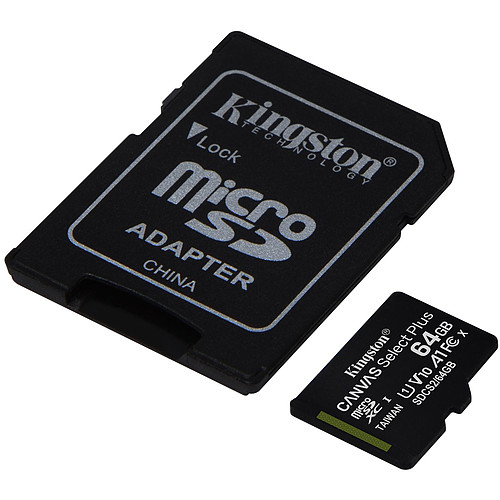 Kingston Canvas Select Plus SDCS2/64GB pas cher