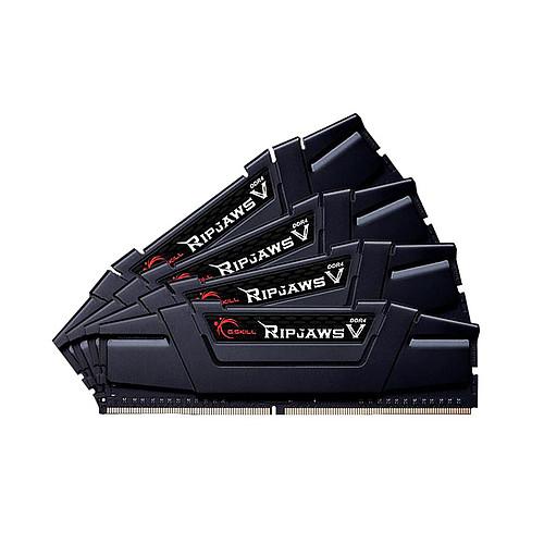 G.Skill RipJaws 5 Series Noir 128 Go (4 x 32 Go) DDR4 4000 MHz CL18 pas cher
