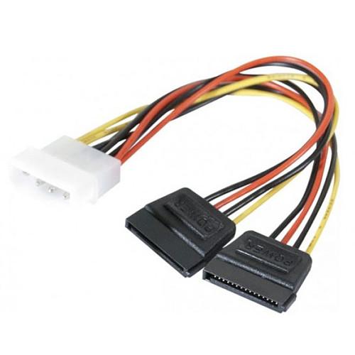 Adaptateur d'alimentation Molex vers 2 connecteurs d'alimentation SATA pas cher