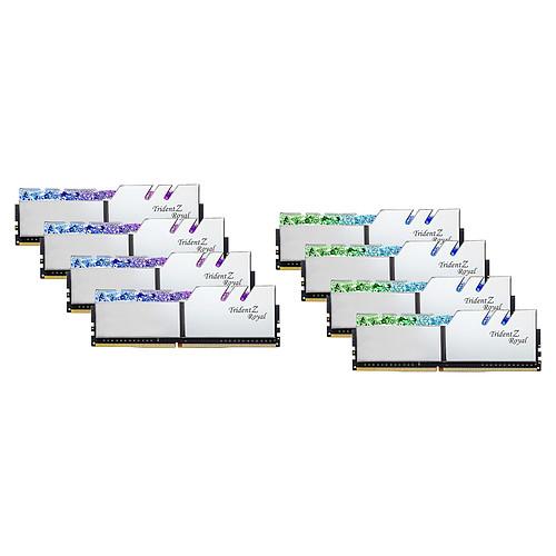 G.Skill Trident Z Royal 64 Go (8 x 8 Go) DDR4 3600 MHz CL14 - Argent pas cher