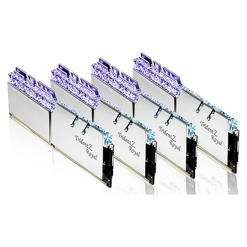 G.Skill Trident Z Royal 256 Go (8 x 32 Go) DDR4 2666 MHz CL18 - Argent pas cher