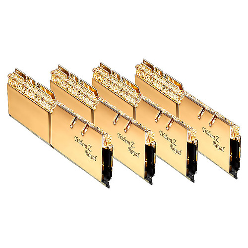 G.Skill Trident Z Royal 128 Go (4 x 32 Go) DDR4 3200 MHz CL16 - Or pas cher