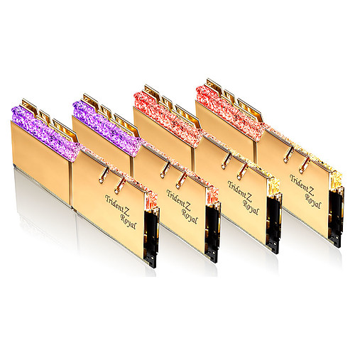 G.Skill Trident Z Royal 256 Go (8 x 32 Go) DDR4 2666 MHz CL18 - Or pas cher