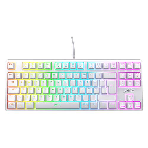 Xtrfy K4 TKL RGB Blanc pas cher