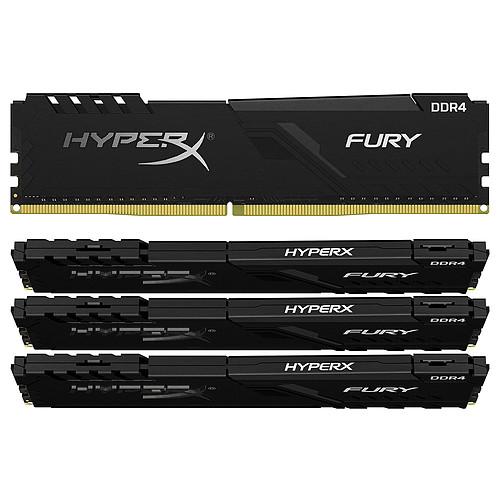 HyperX Fury 128 Go (4x 32 Go) DDR4 2666 MHz CL16 pas cher