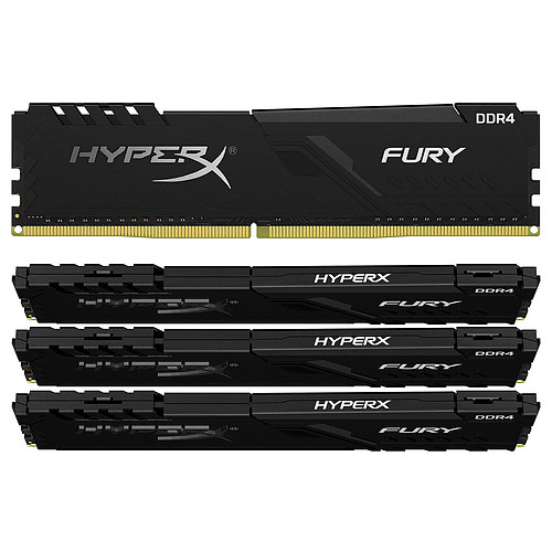 HyperX Fury 128 Go (4x 32 Go) DDR4 3200 MHz CL16 pas cher