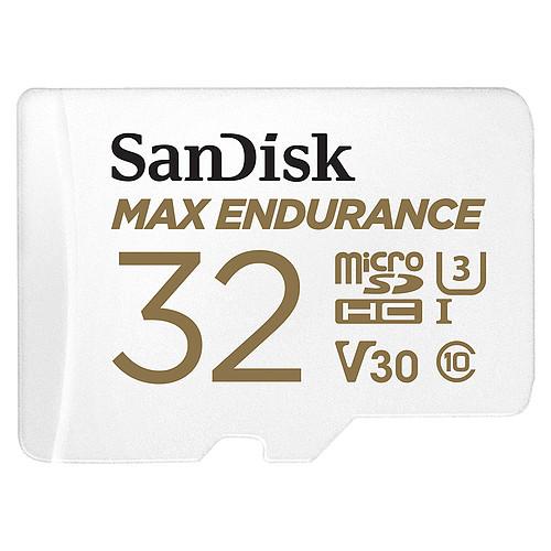 SanDisk Max Endurance microSDHC UHS-I U3 V30 32 Go + Adaptateur SD pas cher