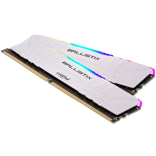 Ballistix White RGB DDR4 16 Go (2 x 8 Go) 3200 MHz CL16 pas cher