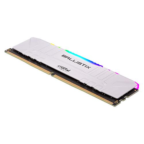 Ballistix White RGB DDR4 16 Go (2 x 8 Go) 3000 MHz CL15 pas cher