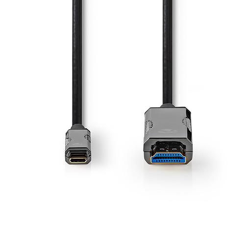 Nedis Câble USB-C vers HDMI COA 15 m Noir pas cher