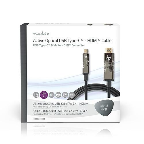 Nedis Câble USB-C vers HDMI COA 30 m Noir pas cher