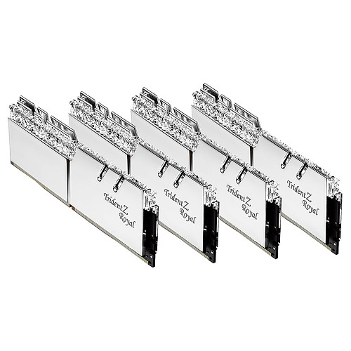 G.Skill Trident Z Royal Collector Edition 32 Go (4x 8 Go) DDR4 4000 MHz CL17 - Argent pas cher