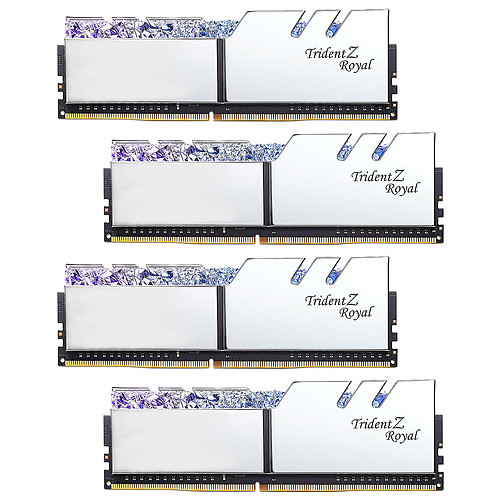 G.Skill Trident Z Royal Collector Edition 32 Go (4x 8 Go) DDR4 3200 MHz CL14 - Argent pas cher