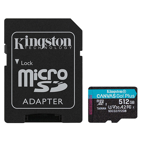 Kingston Canvas Go! Plus SDCG3/512GB pas cher