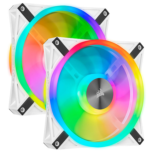 Corsair QL Series QL140 RGB (Par 2) blanc pas cher