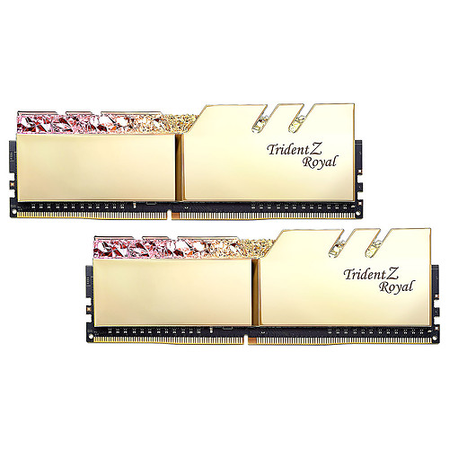 G.Skill Trident Z Royal 64 Go (2 x 32 Go) DDR4 3600 MHz CL18 - Or pas cher