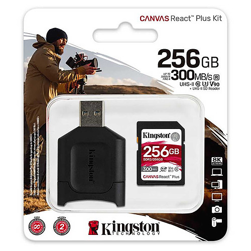 Kingston Canvas React Plus SDCR2/256GB pas cher