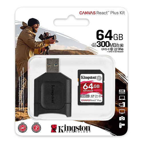 Kingston Canvas React Plus SDCR2/64GB pas cher