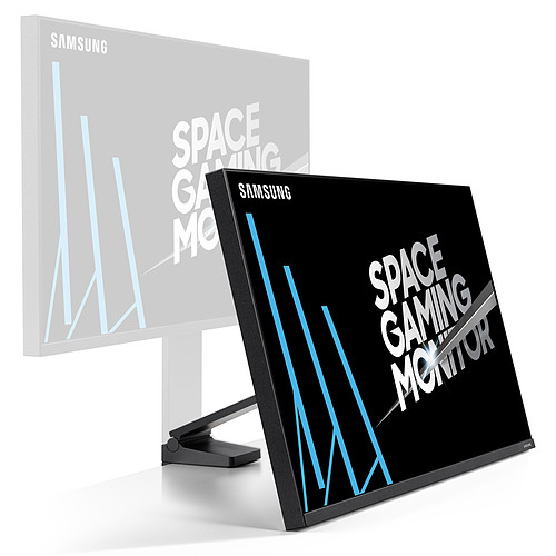 "Samsung 31.5"" LED - Space Monitor S32R750Q pas cher"