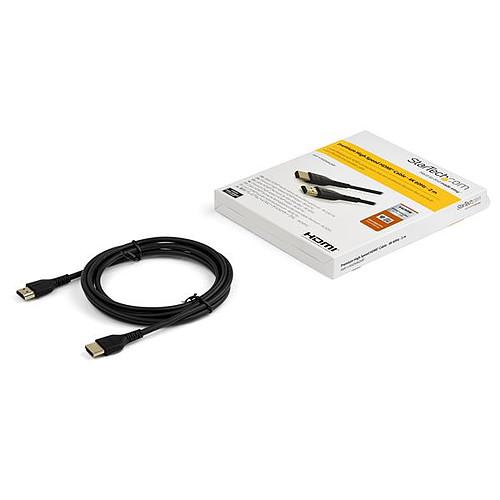 StarTech.com Câble HDMI 4K 60 Hz avec Ethernet - Premium - 2 m pas cher
