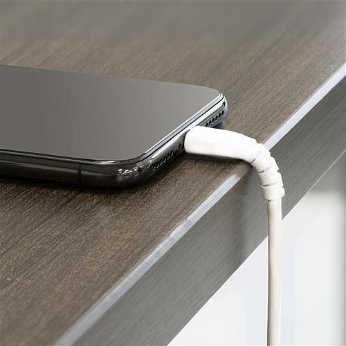 StarTech.com Câble USB Type-A vers Lightning - renforcé - 1 m - Blanc pas cher