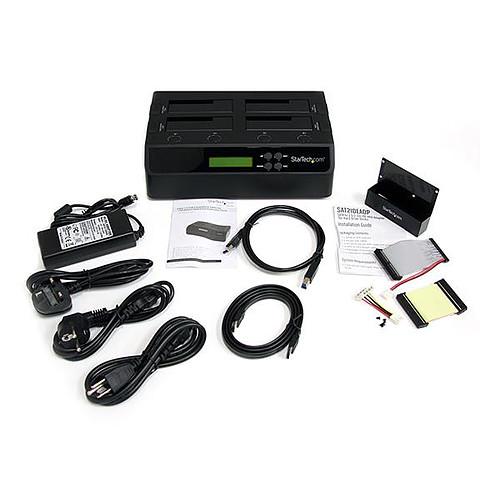 """StarTech.com Station d'accueil USB 3.0 autonome 1 vers 3 disques dur SATA de 2,5"""" et 3,5"""" pas cher"""