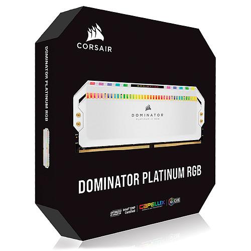 Corsair Dominator Platinum RGB 32 Go (4 x 8 Go) DDR4 4000 MHz CL19 - Blanc pas cher